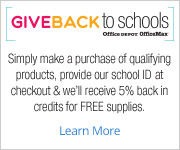 Shop at Office Depot for School Supplies and Support CBCA!